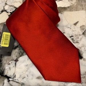 Murano extra long silk tie dark red
